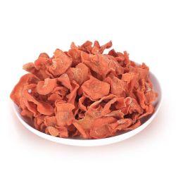 Les Flocons d'Coupe croisée de carotte déshydratés
