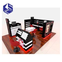 贅沢で装飾的な口紅ブースデザイン美のキオスクの表示棚装置の家具