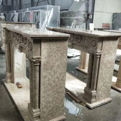 Steingranit-Marmor-Sandstein-Kalkstein-Kamin-Ofen geschnitzter Kaminsims