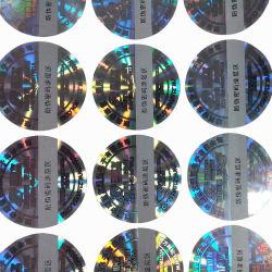 Autocollant de sécurité laser Anti-Fake hologramme étiquette avec numéro de série