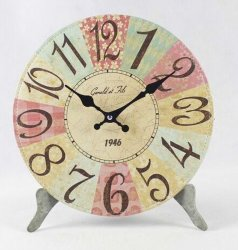 Forma redonda com relógio antigo relógio de mesa Relógio de madeira