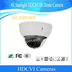 Dahuaの防水Vandalproof 4KスターライトのHdcvi IRのドームのカメラ(HAC-HDBW2802R)