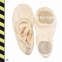 Chaussures de danse de ballet de toile pour enfants et adultes