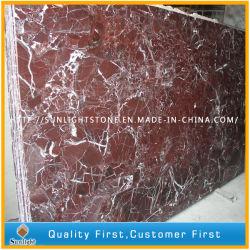 Polis Rosso Lepanto/Levanto de dalles de marbre rouge pour les comptoirs, les tuiles
