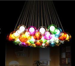 As bolas coloridas Lâmpada pendentes decorativos de vidro