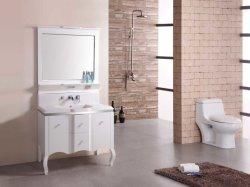 ミラーが付いている贅沢なヨーロッパ式の純木の浴室の虚栄心の家具