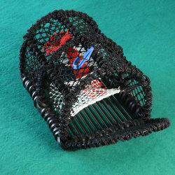 سوداء لون زركش [ستيل فرم] حبة كركند مصيدة لأنّ صيد سمك