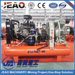 Refrigerado por aire de alta calidad de minería de pistón compresor de aire con equipo de perforación DTH