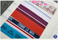 인쇄 의류를 위한 Labei에 의하여 길쌈되는 Labei PVC Labei의 Labei 또는 의복 또는 단화 또는 부대 또는 케이스