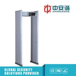 16 High-Brightness Multi-Alarm LED con detector de metales de la puerta de modo infrarrojo doble