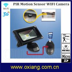 Detección de movimiento LED impermeable CCTV Seguridad DVR cámara con función WiFi