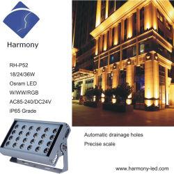Plaza de la resistente al agua 24W de luz LED bañador de pared