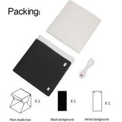 Le pliage de l'album studio de photographie de lumière LED Softbox Soft Photo boîte case Arrière-plan de l'éclairage pour Smartphone