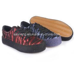 女性の多彩なジュートの孤色に変色することの最も新しいズック靴(SNC-66004)
