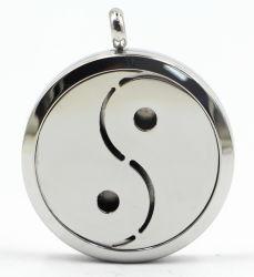 El Tai Chi RD de 30 mm de acero inoxidable de plata Perfume Difffuser medallón