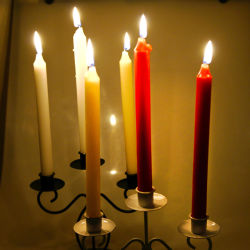 Big Discount Flameless Candle 파라핀 왁스 화이트 캔들