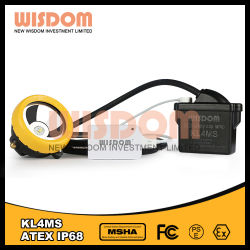 Kl4ms李イオン電池抗夫Lamp/LEDの保安帽ランプ