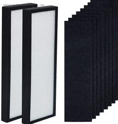 공기 청정기 필터 팩 2 HEPA, 8 탄소 프리필터 - 세균성 가디언 모델 AC4300bptca, AC4900ca, AC4825, AC4850PT, AC4820, Ap2200ca 청정기