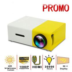 Yg300 LED Projector Mini 320x240 pixels suporta 1080P Yg-300 USB HDMI Audio Projector portátil Home Media Player de vídeo