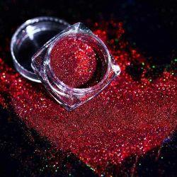 Commercio all'ingrosso sciolto laser olografico brillare colore fine glitter polvere sfusa Spolverate la polvere di glitter con eco-friendly