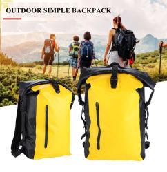 맞춤형 로고 Low MOQ TPU 타폴린 20L 야외 캠핑 하이킹 등산용 백지 완전 방수형 드라이 백팩