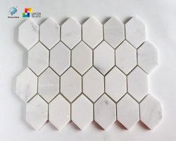 백색 혼합 자연적인 색깔 벽과 지면을%s 훈장 부엌 그리고 침실을%s 불규칙한 도와 모자이크 예술의 대리석 모자이크