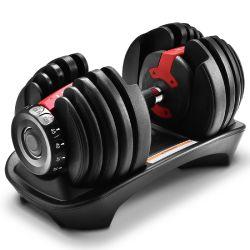Startseite Fitness-Studio Fitnessgeräte 52lb 24kg Hantel Verstellbare Gewichte Hantel