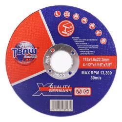 Certificat de ZPM de haute qualité 4 1/2 pouces 115mm disque de coupe en métal de résine Roue de coupe
