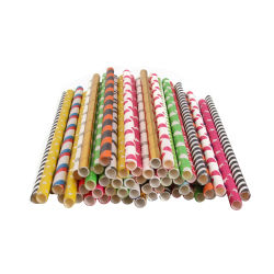 Noël de la paille paille en plastique biodégradable Parti de la paille de la paille de papier de paille