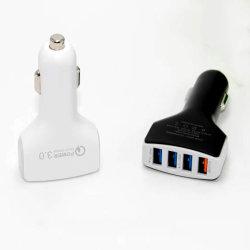 автомобильное зарядное устройство Energy Smart четыре порта 2.4A шунт - быстрая зарядка, черного и белого цвета, совместимых с различными моделями