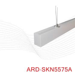 Deco de arte moderno de 40 W negro lineal de ahorro de energía de luz colgantes de techo LED de la COB