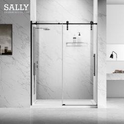 Sally CE Cupc Bathroom Easy Clean Coating Getemperd Glass Matt Zwarte schuifdeur van de douche