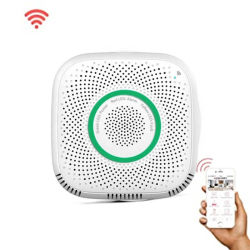 Detector de gás WiFi doméstico Combustíveis Smart Sensor de alarme de gás para o sistema de alarme em Casa WiFi Tuyasmart / Vida inteligente APP