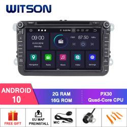 Auto-Video-Player des Witson Android-10 für Volkswagen-Golf-Polo Jetta Tiguan Sitzfahrzeug-Radio GPS-Multimedia