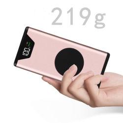 디지털 표시 장치와 LED 가벼운 힘 은행을%s 가진 휴대용 무선 충전기