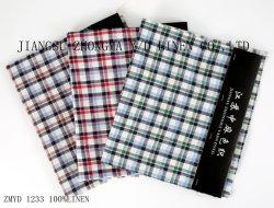 L21*L21 tecido de linho puro linho Padrão Verificado vários produtos têxteis