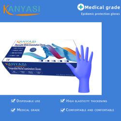Blue Powder Free Disposable Nitrile Medical Examination القفازات السعر مصنعين, قفازات أسنان جراحات نتريل