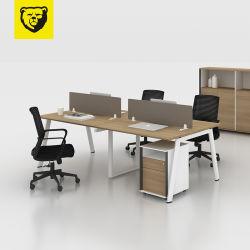 Personen-Büro-Schreibtisch des Spanplatten-Tischrechner-4 für 4 Seater den Arbeitsplatz