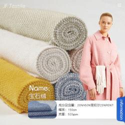 Ferret-Velvet Imitation Mink gebreide wollen Polyester Coat Fabrikant Direct Sale Wollen stof