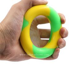 カラー混合物手のグリップ筋肉トレーニングのゴムリングのStrengthenerエクササイザー