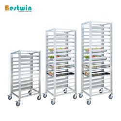 Restaurant Catering Supplies Dual-Use Aluminium Baking broodbak Cart GN Pan Bun Pan Sheet Pan Rack Bakery Trolley