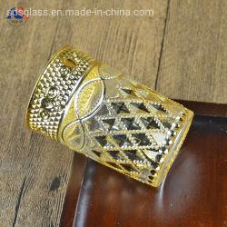 カスタムロゴの創造的な金の厚板ガラスのティーカップ