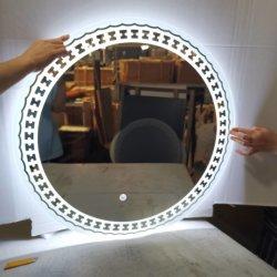 LED redonda de cuarto de baño Espejos de vidrio de alta calidad