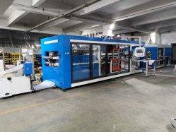 La estación de máquina de formación de tres de vacío presión negativa la máquina de moldeo de plástico