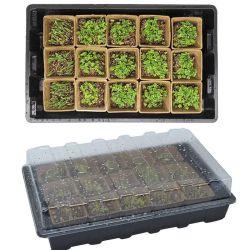 120 قصيدة نثر البذور من نوع Starter Tray Bioday Compostelable Bioday زرع النتوات لمدة الخضار فاكهة زهرة زهرة في المساحات الداخلية في الهواء الطلق والحديقة العضوية