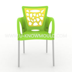 Cadeira de Plástico Molde com a perna de Aço Inoxidável