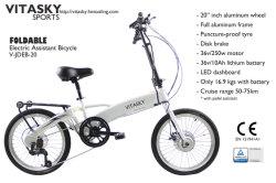 """[250ويث350و] 20 """" عجلة [س/ن15194] [تثف] يصدر يخفى بطارية مساعدة هجين ينهي [فولدبل] درّاجة كهربائيّة درّاجة [سكوتر] يطوي مسافر يوميّ 6 سرعة [إ-بيك]"""