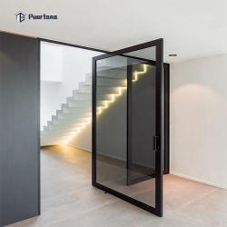 Алюминиевый корпус наружного поворотного стекла двери весной Piovtting Двери входные двери начального уровня