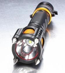 Аккумулятор для военных светодиодный фонарик водонепроницаемый ручной фонарик с нападения на головку блока цилиндров и звуковой сигнал сирены охранной сигнализации лучше всего подходит для самообороны