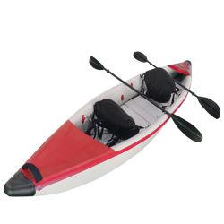 Hot Sell Tandem Kayak زورق صيد الأسماك لشخصين قوارب تبديل القوارب الربط